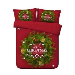 2019 rote grüne bettwäsche setzt Rot Grüner Weihnachtsbaum Bettbezug Set Weihnachtsmann Tröster Steppdecke Elks Deer 3 Stück Bettwäsche mit 2 Kissen Shams Geschenke für Kinder Junge günstig rote grüne bettwäsche setzt