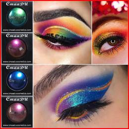 Sombra de olho sombra de olho em pó on-line-Cmaadu Cor Única Pressionado Sombra Em Pó Maquillage Glitter Sombra Paleta De Maquiagem Glitter Metálico À Prova D 'Água Sombra Shimmer