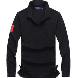polo ricamato Sconti nuovi 2020 di alta qualità di polo top Uomini manica lunga casuale Maglia da rugby camisa ricamato homme di polo maschile