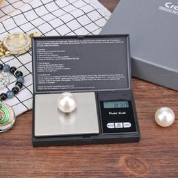 Strumento di pesatura dell'equilibrio dell'oro dei gioielli della bilancia da cucina della bilancia da tasca dei gioielli elettronici digitali della lampadina blu LCD di alta precisione da