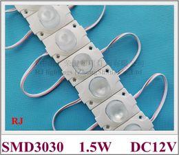 Lâmpada led horizontal on-line-Diodo emissor de luz 1.5W módulo da lâmpada com a lente para a caixa de iluminação DC12V 45 milímetros * ângulo de feixe 30 milímetros verticalmente 15 graus e 45 graus na horizontal
