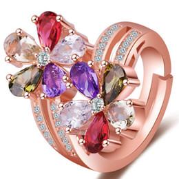 anelli di fiore di ciliegio Sconti 2018 Colore Argento Rosa Fiore Poetic Daisy Cherry Blossom Anello per le donne di fidanzamento Gioielli di moda MJ137