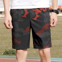 Schwarze rote tarnhose online-Herren Basic Loose Shorts Hosen - Camo / Camouflage Mid Waist Jogger Hosen Plus Size Schnelltrocknend Schwarz Rot 9968 Big And Tall Men Casual Shorts