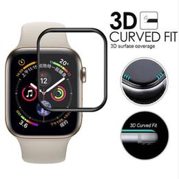 Für Apple Watch 4 3D Full Coverage Gehärtetes Glas Displayschutzfolie 44mm 40mm 42mm 38mm Anti-Scratch Bubble-Free Für iWatch Serie 4 1 2 3 von Fabrikanten