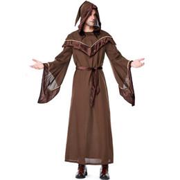 vestiti religiosi Sconti Costumi da mago di Halloween da uomo Accessori per costumi con cappuccio Cosplay costume da padrino religioso Halloween Abiti da uomo Cosplay popolari