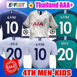 2018 KANE Spurs Soccer Jerseys Third 4Th 2019 LAMELA ERIKSEN DELE SON Jerseys  Top Thailand18 19 Football shirt kits Kids CAMISETAS DE FUTBOL 5df6bc09c