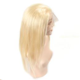 Candeggiare parrucche bionde per le donne online-Parrucche piene del merletto dei capelli umani 150% di densità serico diritto 613 parrucche bionde dei capelli umani per le donne parrucca brasiliana piena del merletto nodi candeggiati Remy