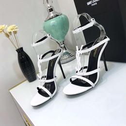 Canada Nouveau Femmes Pompes Sangle de cheville Chaussures à talons hauts Mince noir Blanc Rouge Chaussures à talons hauts Chaussures de mariage élégantes et pointues Offre