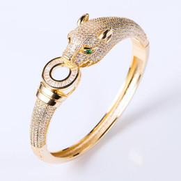 Luxus Marke Leopard Armband Armreif Schmuck Hohe Qualität CZ Pflastern Designer Frauen Luxus Armband Dubai Schmuck von Fabrikanten