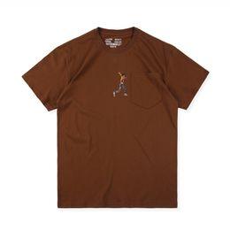 2019 magliette bianche in tessuto muscolare Designer Mens Tshirt Astroworld Stampa Lettera respirabile di estate delle parti superiori Homme Via Hiphop Style vestiti casuali