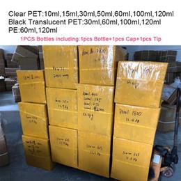 Garrafas vazias do plástico do ANIMAL DE ESTIMAÇÃO das garrafas 15ml 30ml 50ml 60ml 100ml 120ml para o suco de E Garrafa longa da gordura do suplemento de DropperPacking das vidas vazias vazias de
