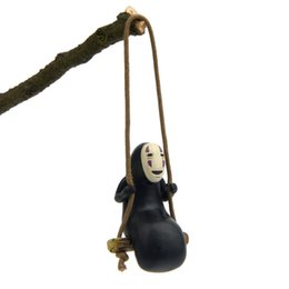 60 pcs estúdio ghibli espirituoso Away No Face Man Figuras Brinquedos Miyazaki Hayao Swing No Face Man Action Figure Modelo Brinquedos Decoração de