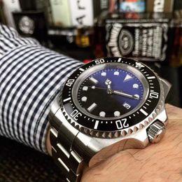 2019 relógio binário de quartzo Homens de luxo Assista SEA-DWELLER Cerâmica Bezel 44mm Aço Stanless 116660 Automático de Alta Qualidade Business Casual Mens Watch relógios de Pulso