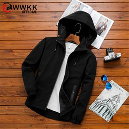giacche da giubbotto sottile Sconti WWKK New Men Slim Fit College Pilot Giacche Mens Stand Colletto Giacca casual di qualità Autunno Inverno Turismo Uomo Antivento Turismo
