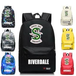Riverdale South Side Serpents Canvas School Bag Zaino Student Bookbag Casual Borse da viaggio Laptop Tracolle Zaino Galaxy per bambina da borse laterali delle ragazze fornitori