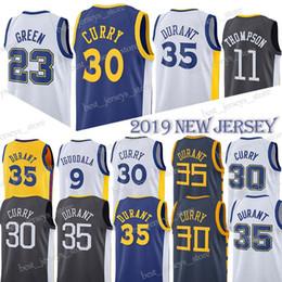 132fc5514f370 HOMMES 30 Maillots Curry Basketball Warriors Kevin 35 Durant Draymond 23  Vert 11 Thompson Maillot 9 lguodala Adulte   enfant