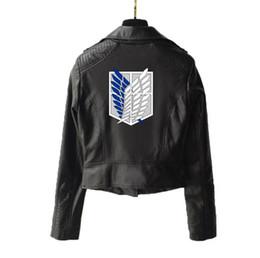 scudi moto Sconti Giacca in pelle da motociclista punk con cerniera a manica lunga con cerniera a manica corta e scudo a forma di piuma