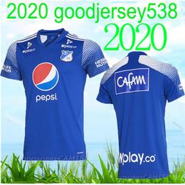 2019 camisetas de lyon 20 21 Millonarios Futbol Club Colombia jersey del fútbol camiseta de fútbol 2020 2021 Colombia Millonarios camiseta de fútbol Inicio Hombres camiseta de manga larga