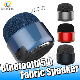 altoparlanti unici del bluetooth Sconti F019 Bluetooth Stereo Speaker Design unico tessuto Colorfu Mini altoparlanti esterni Beach 5W Bass Speaker con confezione di vendita izeso