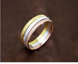 chaîne bracelet en diamant Promotion Nouvelle arrivée de haute qualité Scrub mode Love Forever Bangle en platine 18K Rose plaqué or Bracelet pour couple K2634