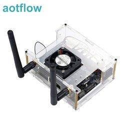 2019 rosa laptop sony NVIDIA Jetson Nano kit desenvolvedor Acrílico Caso caixa transparente Shell Caixa com ventilador de refrigeração