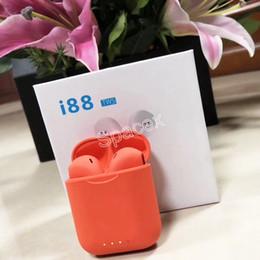 Canada Vente chaude I88 TWS Touch Control Siri Écouteurs Sans Fil Bluetooth V5.0 Multi Couleurs Écouteurs avec Smart Magnetic Charger Box pour téléphone portable Offre
