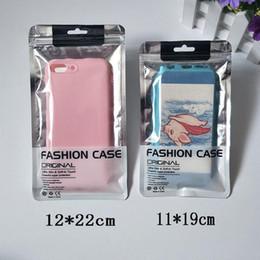 Sacs en plastique d'expédition pour le cas d'iphone en Ligne-Zip Lock Sacs Clear Silver Plastic Zipper Emballage de détail Sac pour iPhone XS Mas X 4.7 5,5 pouces Samsung S10 S9 Cas de téléphone Livraison gratuite
