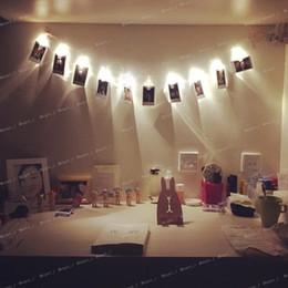 decorações de natal ao ar livre grandes Desconto ilumina Mini LED DIY clip de Cordas de Natal do ano novo casamento festa em casa decoração clipe de fotografias luzes da corda luzes LED clipe de natal