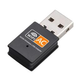 2019 receptor wifi ethernet 600 Mbps Adaptador USB WiFi Placa de Rede Sem Fio Ethernet AC 600 M Dual Band 2.4 G / 5. G USB Wi-fi Dongle Receptor wi-fi 802.11ac receptor wifi ethernet barato