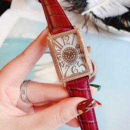 Moda fine diamante online-Le donne di lusso di MF guarda il quarzo delle ragazze di modo dell'orologio 40mm il diamante guarda il trasporto libero all'ingrosso dell'acciaio inossidabile 316