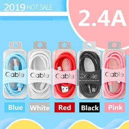 mejor cable hdmi Rebajas Cable de cargador micro USB 2.4A Carga rápida Cable USB de color TPE de 1M para Samsung galaxy S9 8 Nota 9