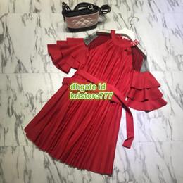 Robe jupe évasée en Ligne-Dernière chemise femme chemise à manches cloche robe à volants en polyester évasé manches 3/4 à col ras du cou au-dessus du genou mini-robe jupe chemise robe S-L