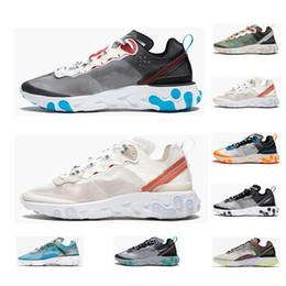 air max 87 reaccionar Whosale zapatos para correr 87 hombres mujeres zapatos cadena reacción zapatos de calidad superior Royal mens trainer moda transpirable zapatillas deportivas desde fabricantes