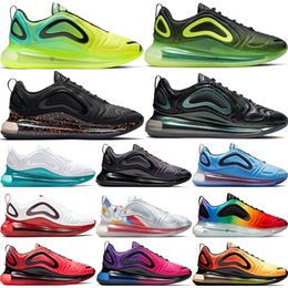 Scarpe da donna in teal online-Nike Air Max 720 Throwback Future Running Shoes Per Uomo Donna Hot Lava Neon Volt Oreo Sunrise Sunset Obsidian Be True Spirit Teal Sport Sneakers 5.5-11