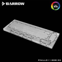 ventilateur 12v supposé Promotion Barrow waterway plate pour boîtier d'ordinateur Lianli O11 5V RBW LRC2.0, Compatible avec pompe D5 DDC, refroidisseur d'eau Carte de canal de construction