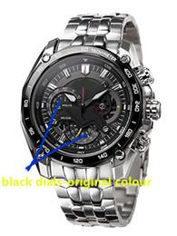 Pendolo oscillante online-550RBSP Commercio all'ingrosso EF-550RBSP-1AV Nuovo orologio EF 550 cronografo sportivo da uomo orologio 1/20 secondo orologio a pendolo timer ora Funzione altalena