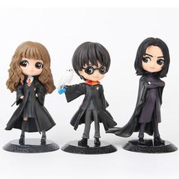 muñeca de harry potter Rebajas 3 Estilos Harry Figuras de Acción juguetes de la muñeca de 15 cm de PVC Potter Hermione Snape muñeca niños y regalo Decoración Juguetes L413
