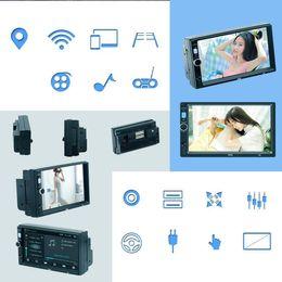 antena tnc Rebajas Moda Nuevo GPS WIFI Bluetooth Dual USB Imagen invertida FM Car Music MP5 Player Nuevo Bluetooth Car MP5 Player GPS