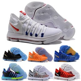 Cheap Newest Zoom KD 10 Anniversary PE Oreo Red Mens Shoes Hot Sale Low Kevin  Durant 10 X Elite Grade School Sport Sneakers d0be00a04161