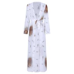 2020 femmes jupes blouses sexy Chemisier de bikini design jupe imprimé léopard / robe en mousseline de couleur imprimée décontracté femmes en 6 styles femmes jupes blouses sexy pas cher