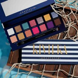 2019 bc box Top vente NOUVEAU Marque palettes de maquillage RIVIERA 14 couleurs Palettes de fards à paupières Shimmer Matte Fard à paupières doux novina modernprim palette de beauté