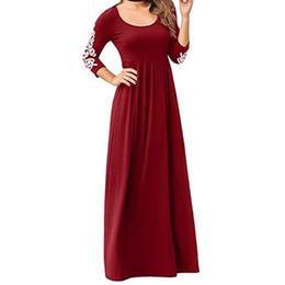 Per il tempo libero Moda Completo, girocollo, manica lunga con lacci a vita alta gonna abito in 4 colori abiti caldi di vendita da