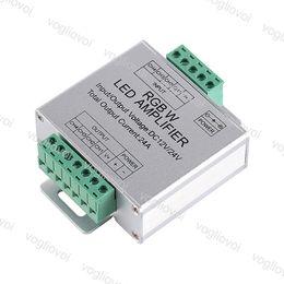 controlador amplificador Rebajas Amplificador LED RGBW Entrada DC12-24V 24A Salida de 4 canales RGBW Tira de LED Repetidor de potencia Consola Controlador EUB