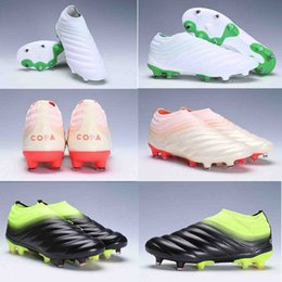 15e01428c95 original Mens Copa 19+ FG Soccer Shoes for Men s Cleats Football Boots Male  Cleated Chaussures Boys Outdoor Shoe