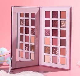 Розовая палитра теней для век онлайн-2019 HUDA считают, Desert Rose розовый 18 Цвет Pearlescent отливом Matte Eyeshadow Palette Тени для век тени