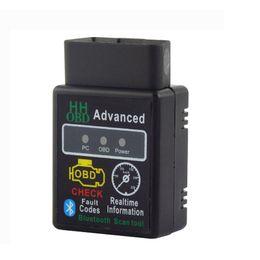 connecteur opel 16 broches Promotion Détecteur de défauts de voiture V1.5 HHOBD MINI Mini Bluetooth ELM327 OBDII OBD2 Car Styling