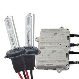 ampoules h8 lumineuses Promotion Kit ballast au xénon haute intensité CA 55W + ampoule 55W 10000LM H1 H3 H7 H8 H9 H11 9005 9006 phare de voiture phare antibrouillard