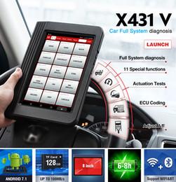 mahindra carro obd2 scanner Desconto Lançamento X431 V completa do sistema OBD2 Diagnostic Scanner Automotive OBDII ECU codificação de 11 serviço de reset X431V Car Código Scanner