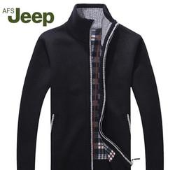 Jeep kleidung online-Afs JEEP neue Ankunft Herbst Männer s warme Pullover warme Winter Pullover Männer Pullover Lässige Strickwaren Fleece Velvet Bekleidung 60