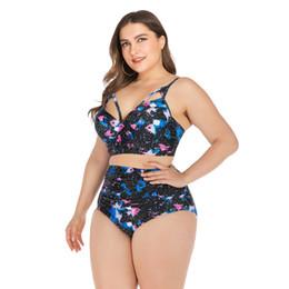 Große klammern online-Badeanzug mit großen Stahlbügeln für Damen und dicke Frauen in Übergrößen Bikini Big Cup Chest 2019 Bather Beachwear Push Up Bikinis